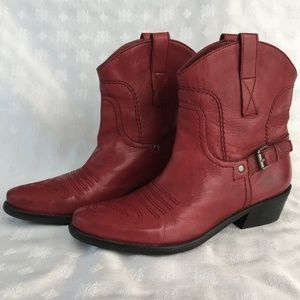 Franco Sarto Ankle Cowgirl Boots 6.5